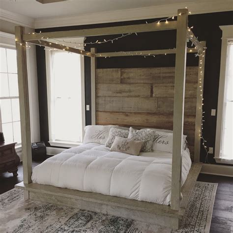 Diy Canopy Bed Wood