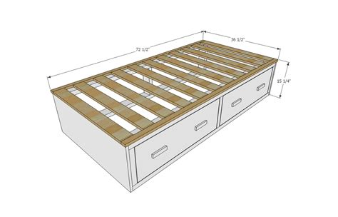 Diy Captains Bed With Drawers Plans