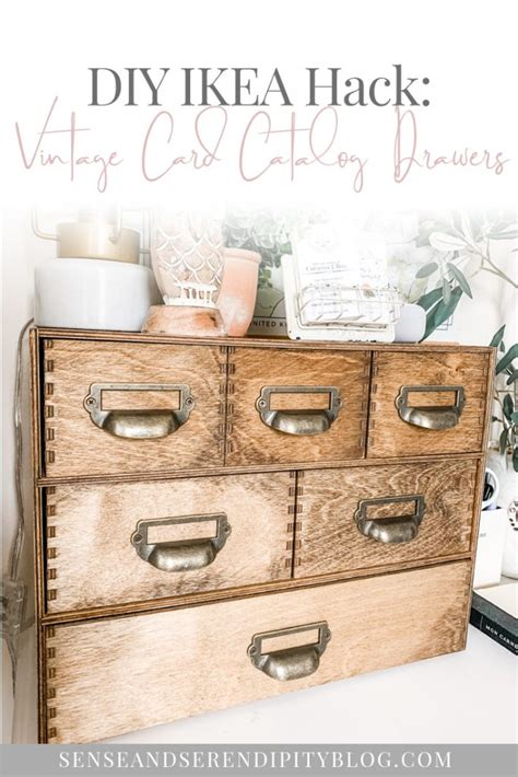 Diy Card Catalog Drawers