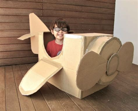Diy Cardboard Box Airplane
