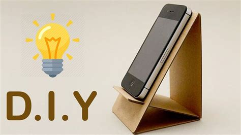 Diy Cardboard Mobile Stand For Bed