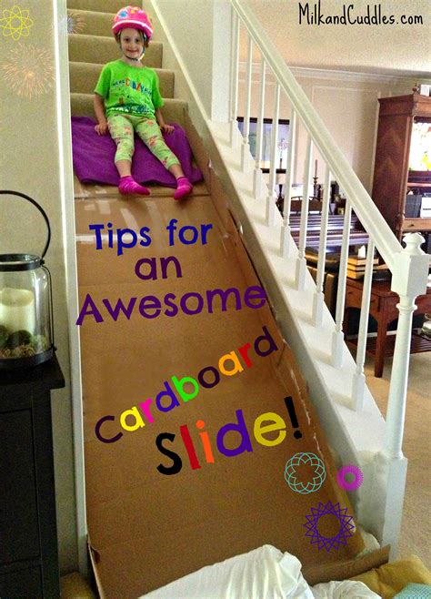 Diy Cardboard Stair Slide