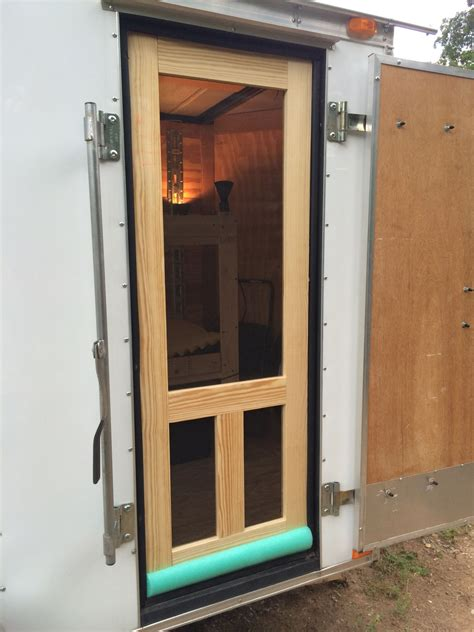 Diy Cargo Trailer Screen Door