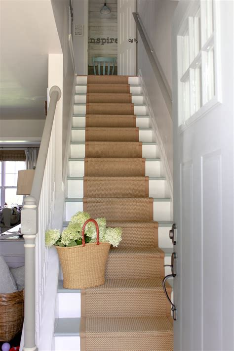 Diy Carpet Runner On Wood Stairs