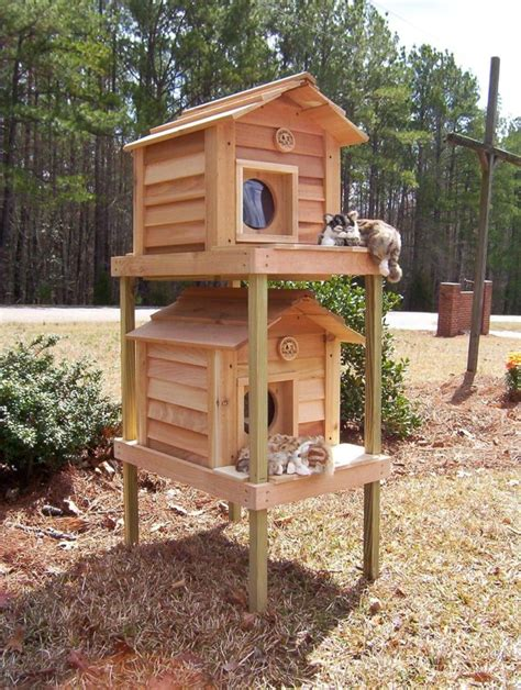 Diy Cat House For Outdoor Cats Winter