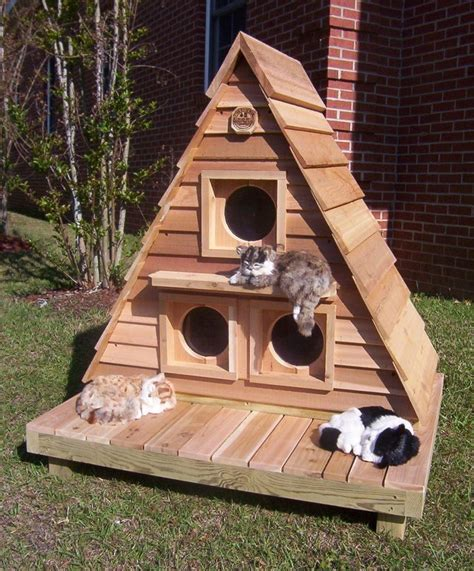 Diy Cat House For Outdoors