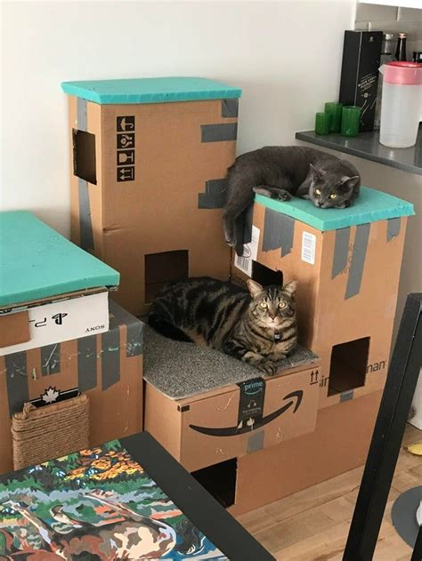Diy Cat Tower Cardboard Boxes