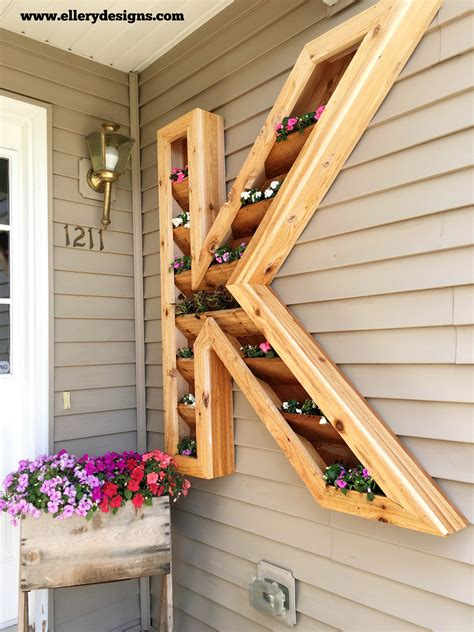 Diy Cedar Monogram Planter Box