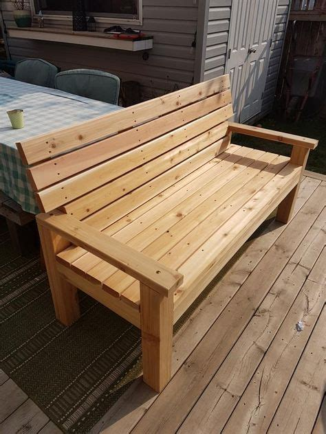 Diy Cedar Wood Bench