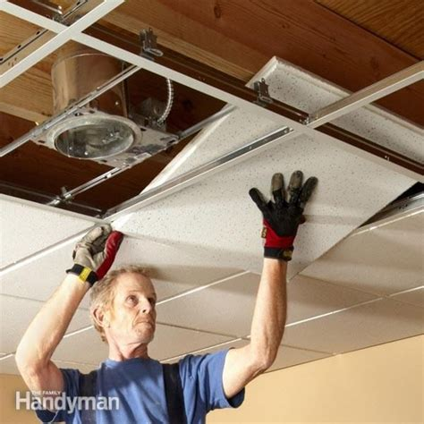 Diy Ceiling Tile Installation