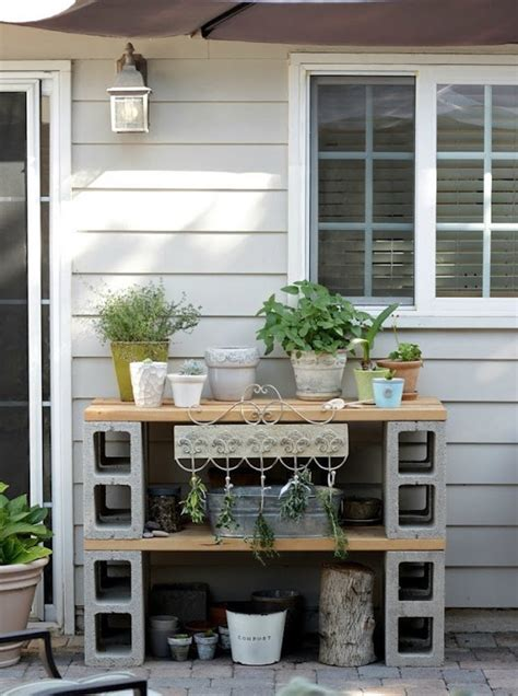 Diy Cement Block Table