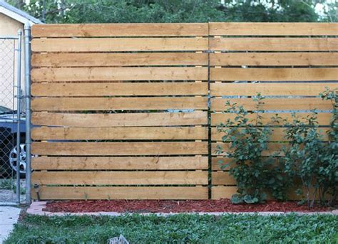 Diy Chain Link And Wood Fence