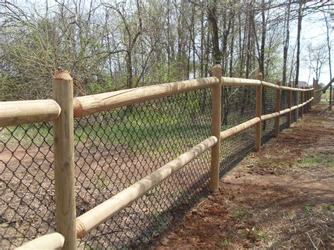 Diy Chain Link Fence With Wood Posts