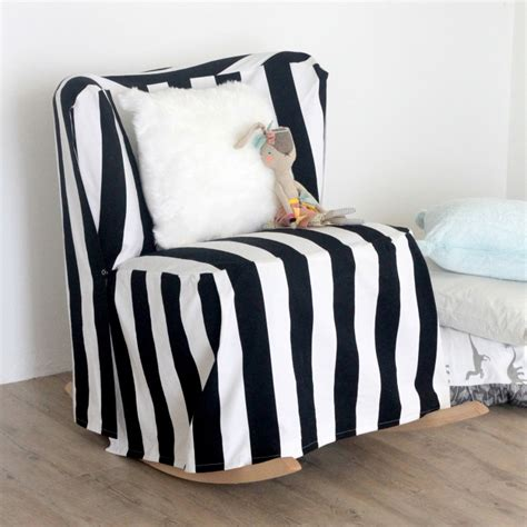 Diy Chair Slipcovers Striped