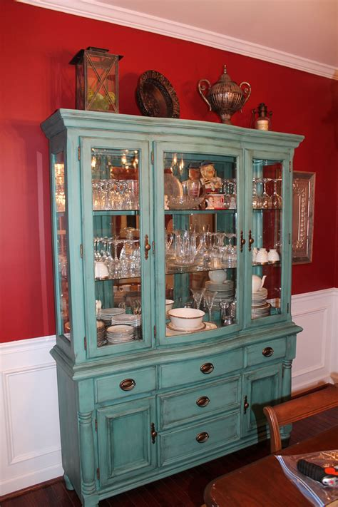 Diy Chalk Painting Dining Room Hutch