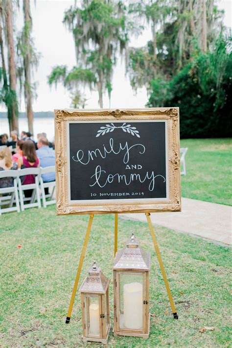 Diy Chalkboard Frame Wedding Vows