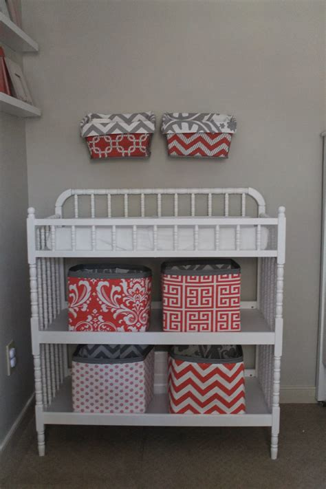 Diy Changing Table Organizer Baskets