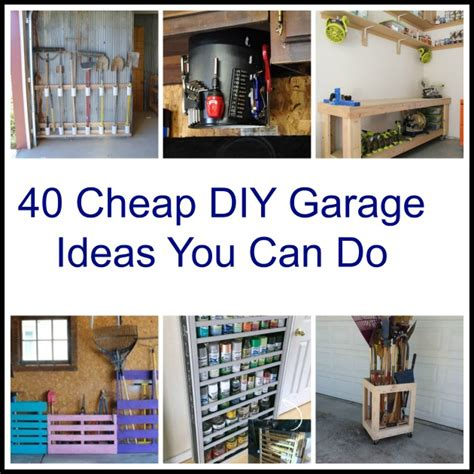 Diy Cheap Garage Storage Ideas