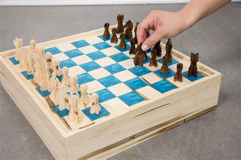 Diy Chess Board And Pieces