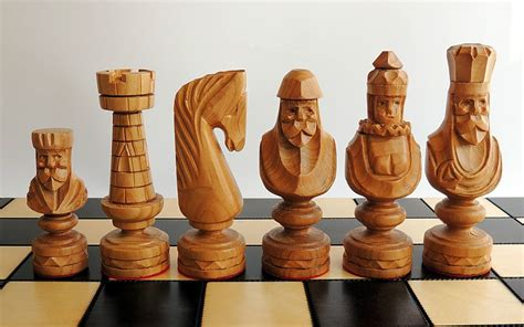 Diy Chess Pieces Wood Carving