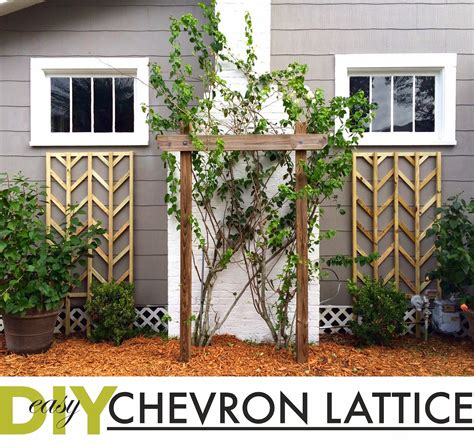 Diy Chevron Lattice
