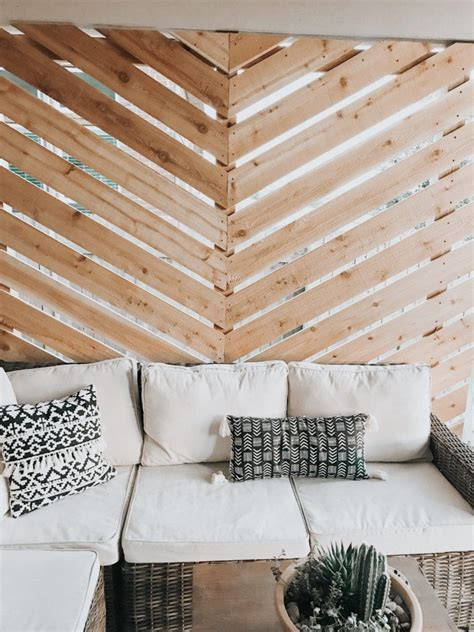 Diy Chevron Pattern On Wall