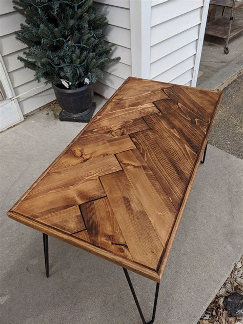 Diy Chevron Wood Coffee Table