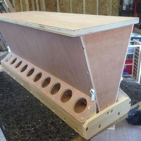 Diy Chicken Feeder Wood