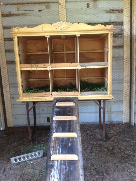 Diy Chicken Nesting Boxes Out Of Dresser