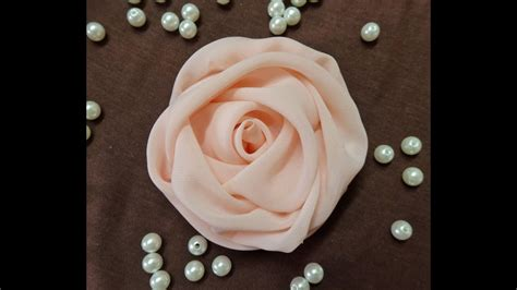 Diy Chiffon Rose Fabric Rose Tutorial How To Make