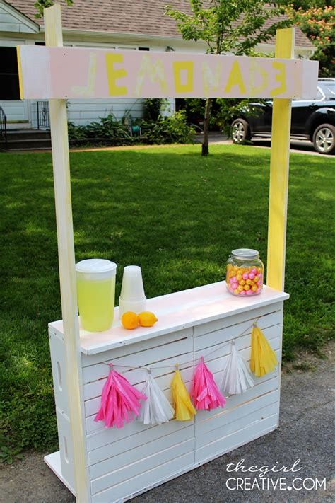 Diy Child's Fold Flat Lemonade Stand