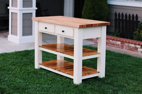 Diy Chopping Block Island Kitchen