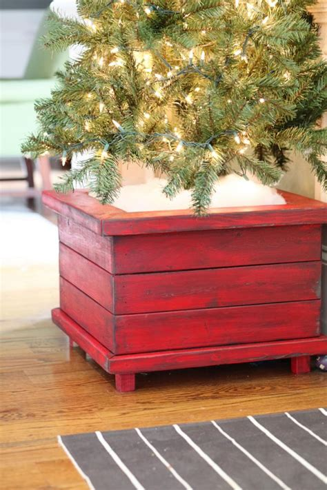 Diy Christmas Tree Box Stand Ideas