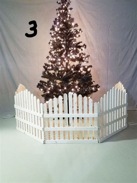 Diy Christmas Tree Fence