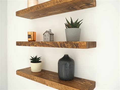 Diy Chunky Rustic Floating Wood Shelves