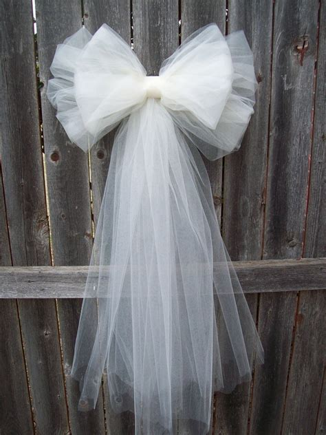 Diy Church Pew Tulle Bows Using Tulle