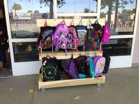 Diy Classroom Backpack Rack And Bench