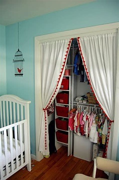 Diy Closet Doors With Curtains