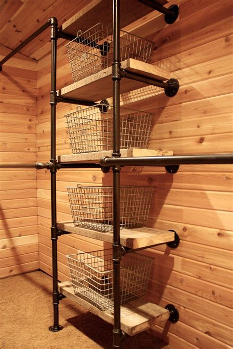 Diy Closet With Pipes Of Tin