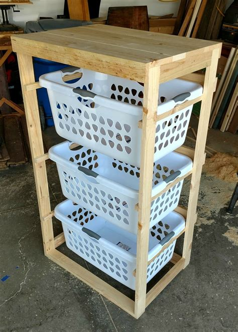 Diy Clothes Basket Rack
