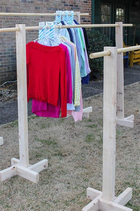 Diy Clothes Rack In Garage