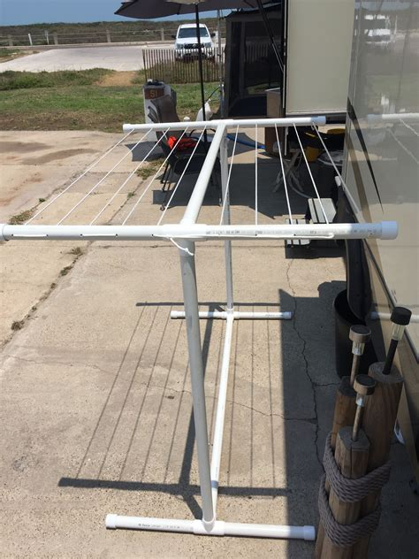 Diy Clothesline From Pvc Pipe