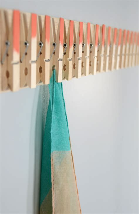 Diy Clothespin Scarf Holder
