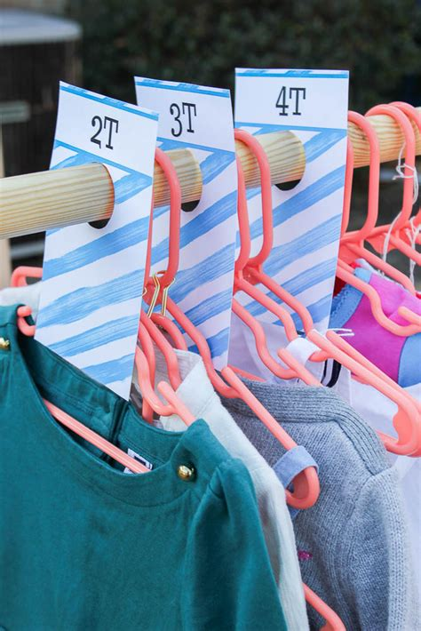 Diy Clothing Rack Size Dividers
