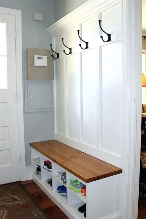 Diy Coat Rack Bench Entryway
