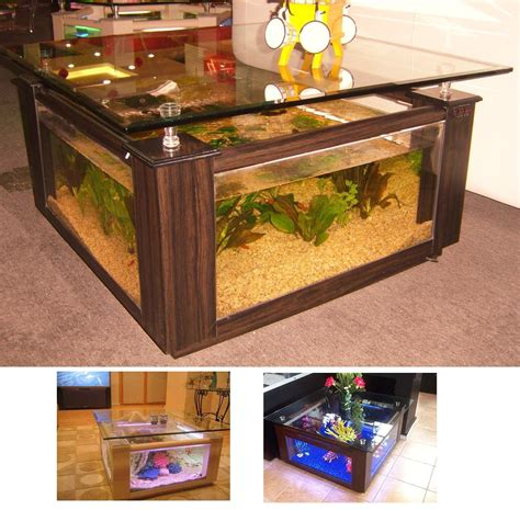 Diy Cofee Table Salt Water Fish Tank