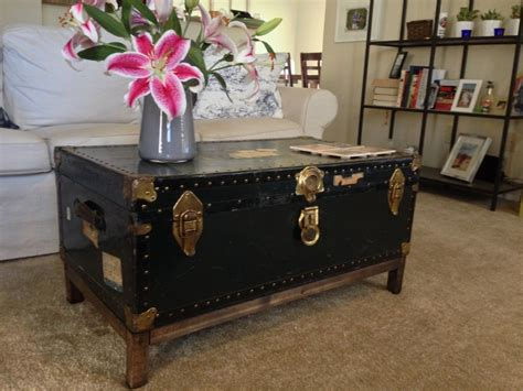 Diy Coffe Table Steamer Trunk
