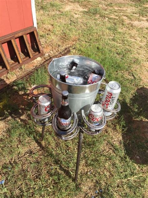 Diy Coffee Cup Holders Made Out Of Horseshoes
