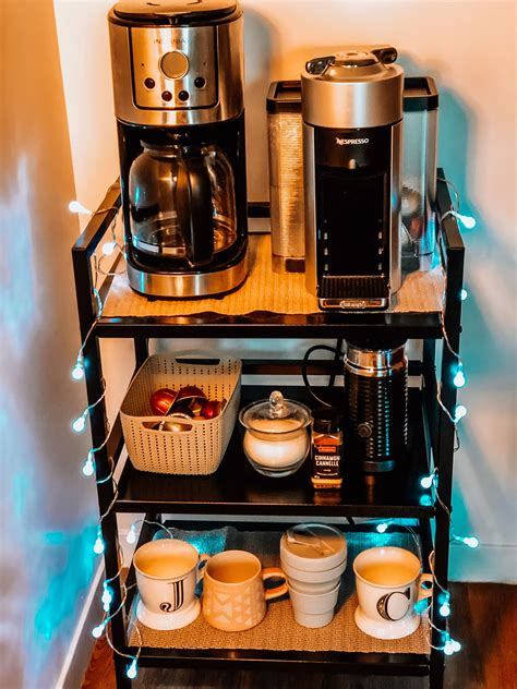 Diy Coffee Station In Small Kitchen