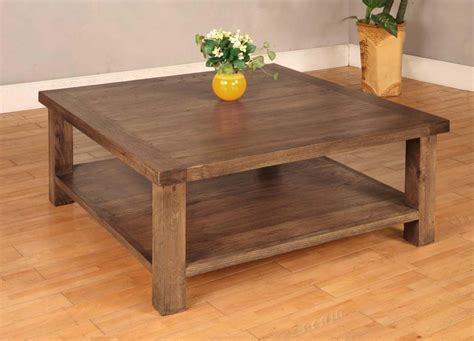 Diy Coffee Table Glass Wood Square Dining